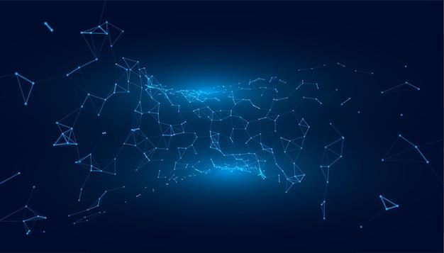 Tecnologia com conexão de malha de rede low poly