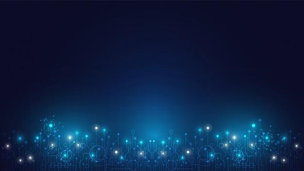Tecnologia de alta tecnologia geométrica e fundo do sistema de conexão com resumo de dados digitais