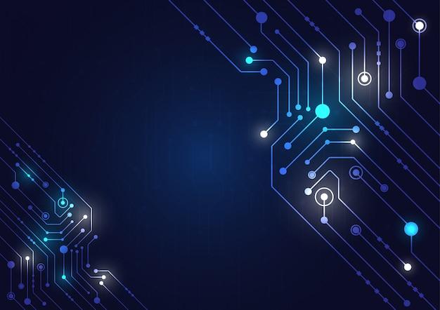 Tecnologia de alta tecnologia geométrica e fundo do sistema de conexão