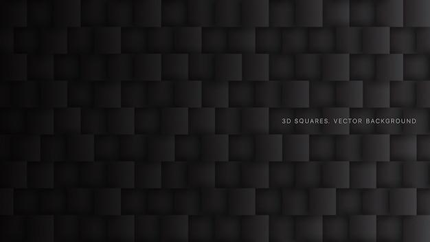 Tecnologia de blocos quadrados abstrato preto