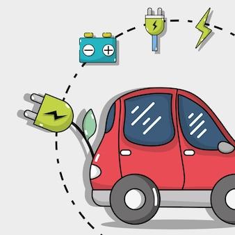 Tecnologia de carro elétrico com bateria de recarga