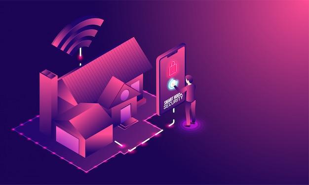 Tecnologia de casa inteligente.