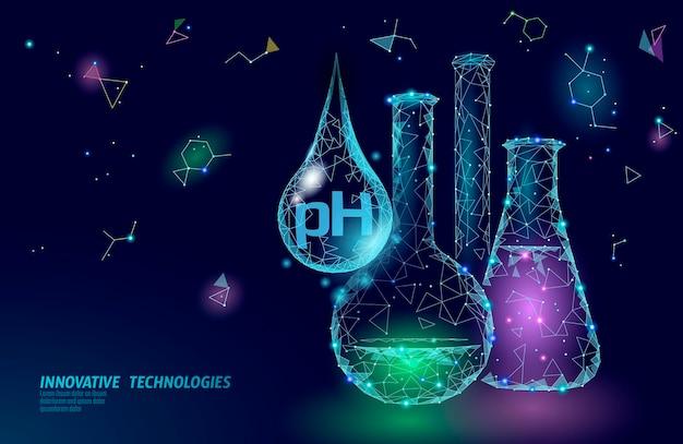 Tecnologia de ciência química de análise de laboratório de ph de água.