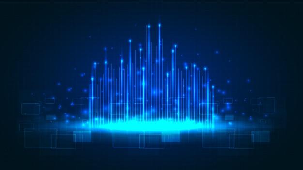 Tecnologia de circuito com sistema de conexão de dados digital de alta tecnologia e computador eletrônico