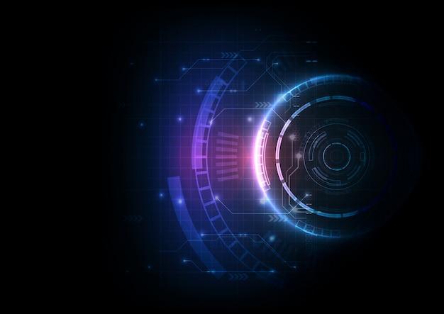 Tecnologia de circuito de jogo futurista de cor clara