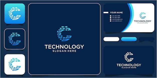 Tecnologia de círculo c de design de logotipo