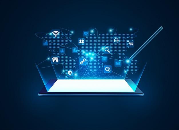Tecnologia de comunicação tablet