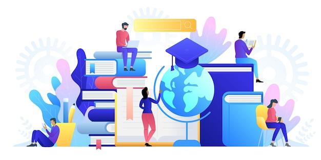 Tecnologia de conceito online de educação