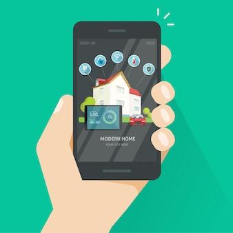 Tecnologia de controle sem fio em casa inteligente via aplicativo smartphone ou celular