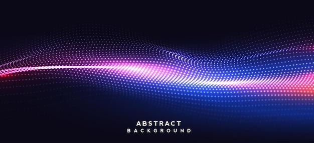 Tecnologia de design abstrato de espaço de fundo escuro com pontos e linhas de conexão para cartazes ou web