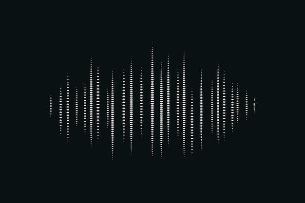 Tecnologia de entretenimento de fundo digital preto de onda sonora