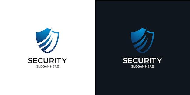 Tecnologia de escudo de logotipo elegante e minimalista