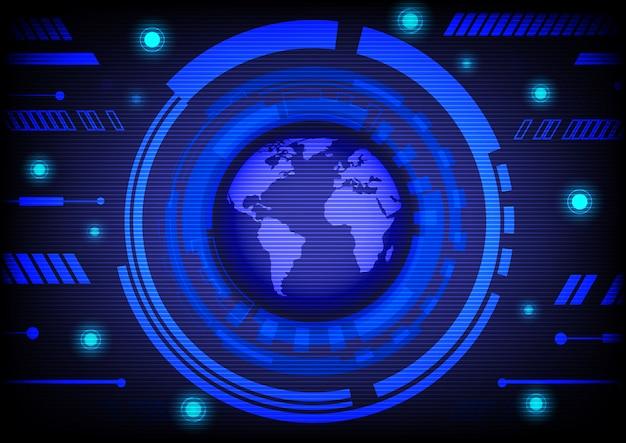Tecnologia de fundo abstrato azul