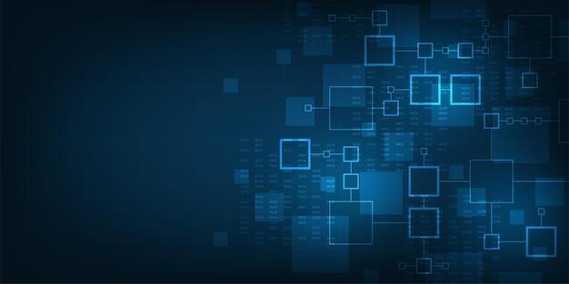 Tecnologia de fundo no conceito de digital