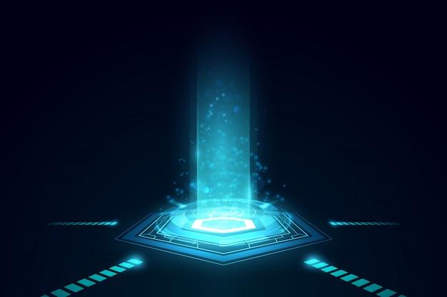 Tecnologia de futuro abstrata, fundo de telecomunicações elétrico