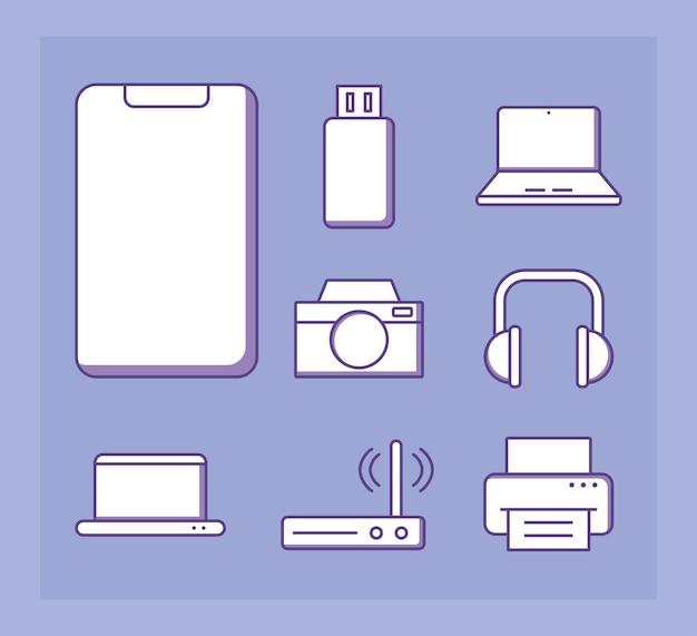 Tecnologia de gadgets de laptop