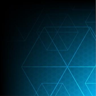 Tecnologia de hexágono vetorial