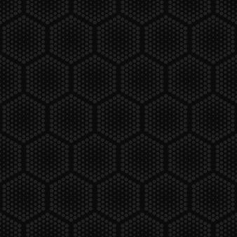 Tecnologia de hexágonos de meio-tom escuro repetitivo padrão sem emenda