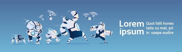 Tecnologia de inteligência artificial modern robots group