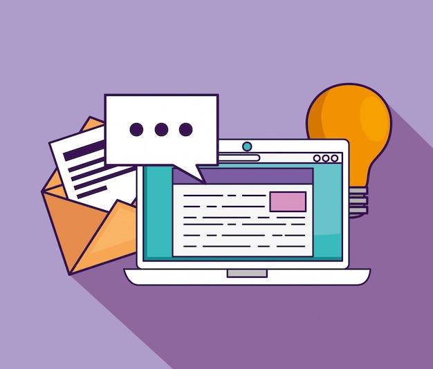 Tecnologia de laptop com educação de documentos para estudar