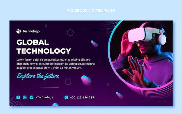 Tecnologia de meio-tom gradiente facebook