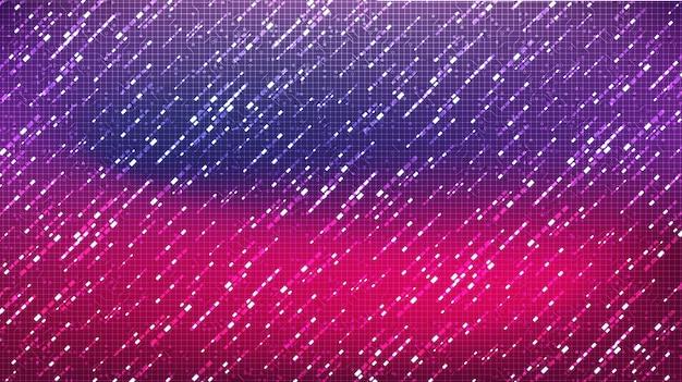 Tecnologia de microchip de circuitos coloridos em segundo plano futuro, alta tecnologia digital e velocidade