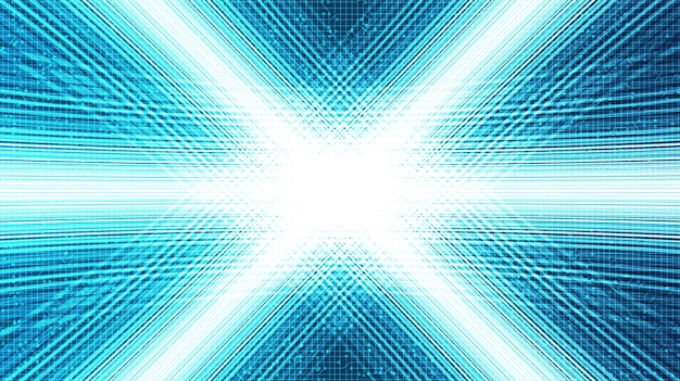 Tecnologia de movimento de velocidade da luz no contexto futuro, digital e conexão