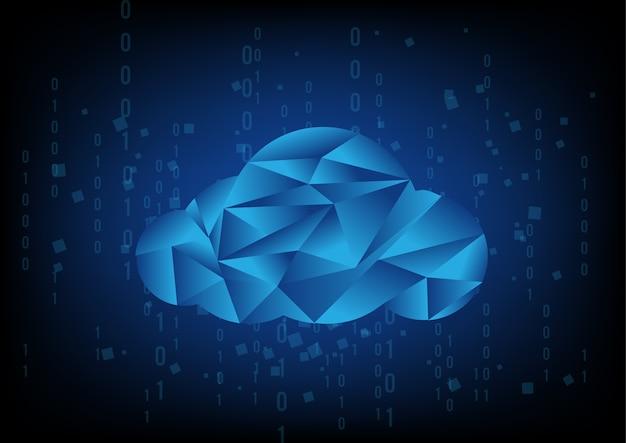 Tecnologia de nuvem abstrata com linha binária