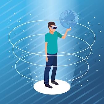 Tecnologia de óculos de realidade virtual