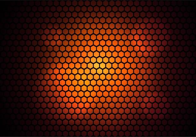 Tecnologia de padrão hexagonal moderna colorida