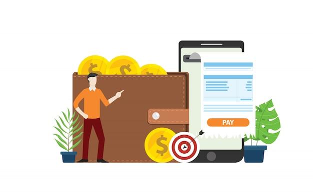 Tecnologia de pagamento online móvel