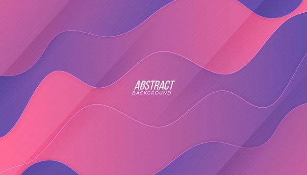 Tecnologia de pano de fundo gradiente rosa roxo moderno recorte de papel abstrato