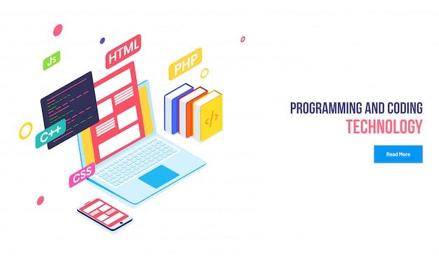 Tecnologia de programação e codificação.