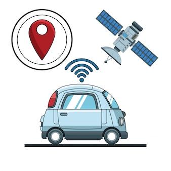 Tecnologia de rastreamento de carro gps