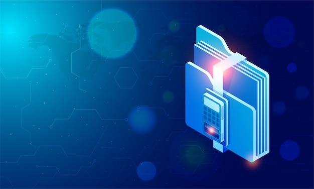 Tecnologia de reconhecimento de impressões digitais para segurança de dados.
