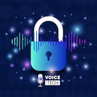 Tecnologia de reconhecimento de voz com cadeado