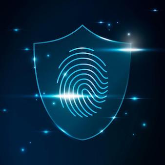 Tecnologia de segurança cibernética de varredura biométrica de impressão digital