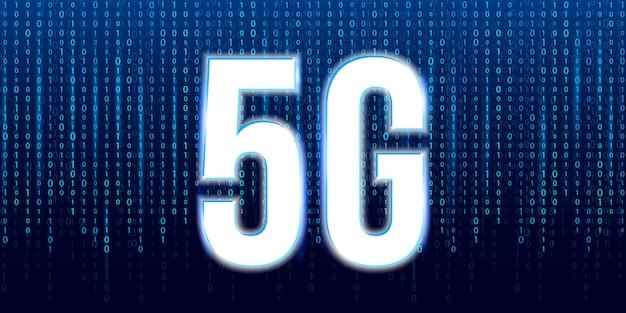 Tecnologia de transmissão de sinal 5g, internet wifi.