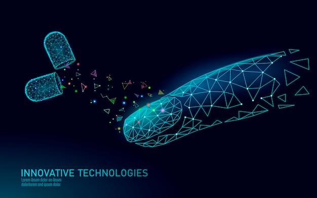 Tecnologia de tratamento de suplemento de unhas moderna de baixo poli. natural inovador