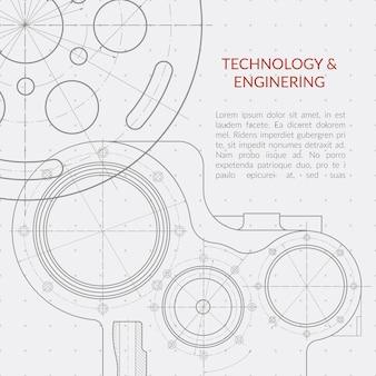 Tecnologia de vetor abstrato e fundo de engenharia