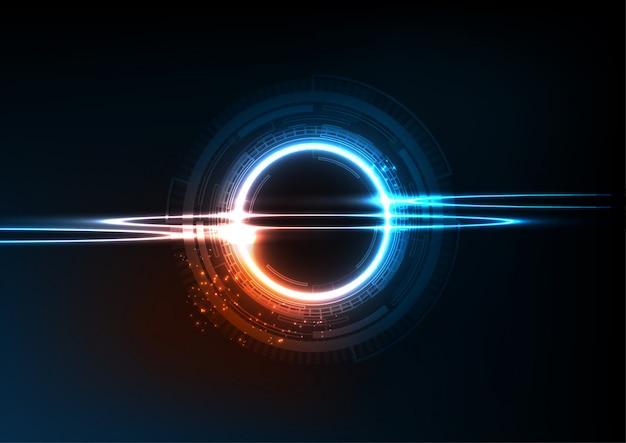 Tecnologia digital azul laranja