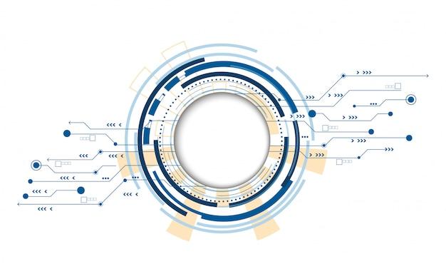 Tecnologia digital círculo azul futurista abstrato