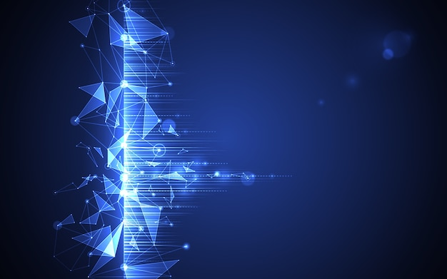 Tecnologia digital de molécula futurista abstrata
