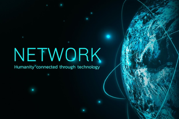 Tecnologia digital de vetor de rede global