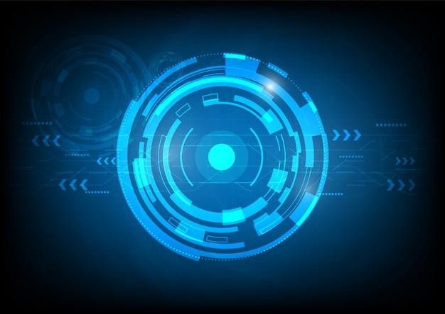 Tecnologia digital futurista abstrata