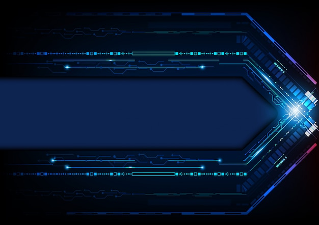 Tecnologia digital futurista abstrato azul