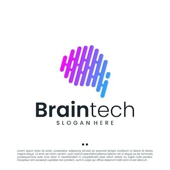 Tecnologia do cérebro humano, inspiração para o design de logotipo