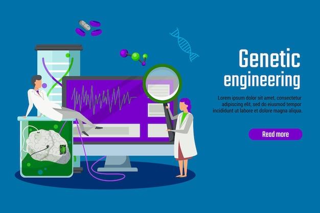 Tecnologia do futuro com bandeira de engenharia genética