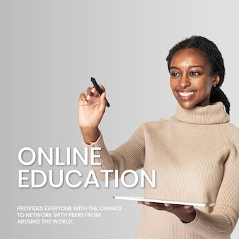 Tecnologia do futuro do modelo de educação global