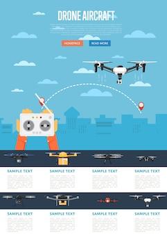 Tecnologia drone com robô voador